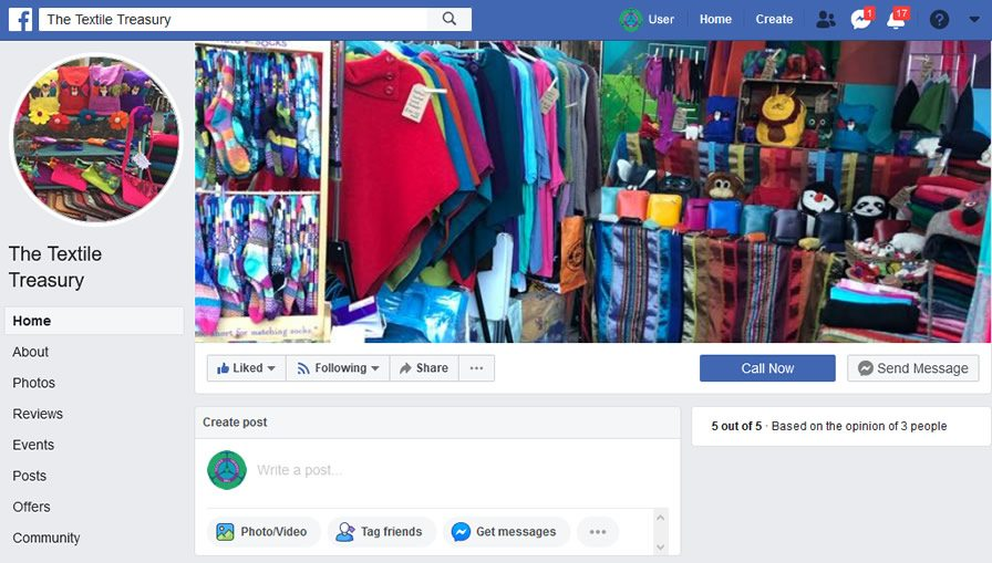 The Textile Treasury Facebook Page